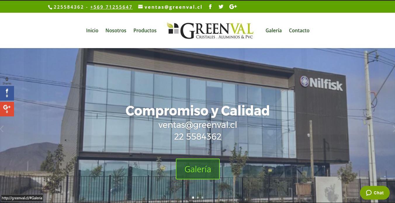 pagina web greenval